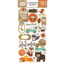 Chipboards 'Echo Park Paper - A Perfect Autumn'