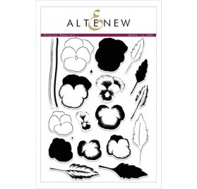 Tampons transparents 'Altenew' Pretty Pansies Qté 20
