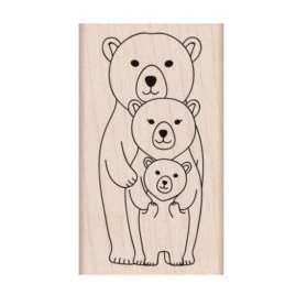 Tampon bois 'Hero Arts' Classic Bear Family