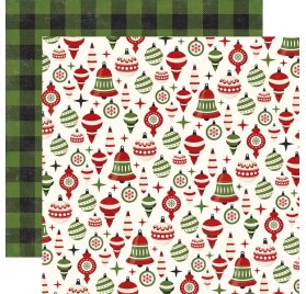 Papier double 30x30 'Echo Park Paper - A Perfect Christmas' Holiday Ornaments