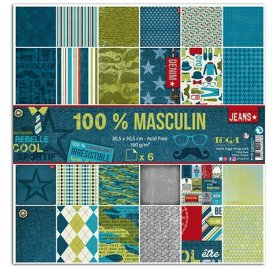 Assortiment 30x30 'Toga - 100% Masculin' Qté 6