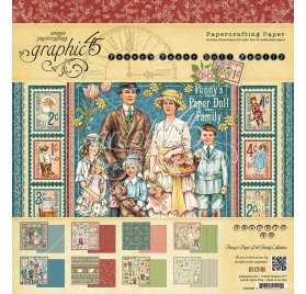Assortiment 30x30 'Graphic 45 - Penny's Paper Doll Family' Qté 24