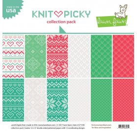 Assortiment 30x30 'Lawn Faw - Knit Picky' Qté 12