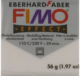 Pâte Fimo - Effect -  56g - Blanc transparent