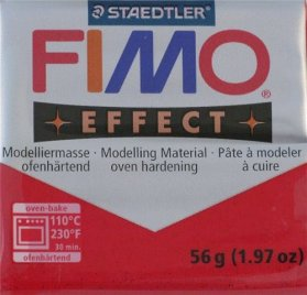 Pâte Fimo - Effect -  56g - Glitter Red