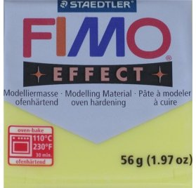 Pâte Fimo - Effect -  56g - Jaune transparent