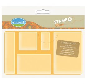 5 Supports Acryliques pour Stampo Clear - Aladine